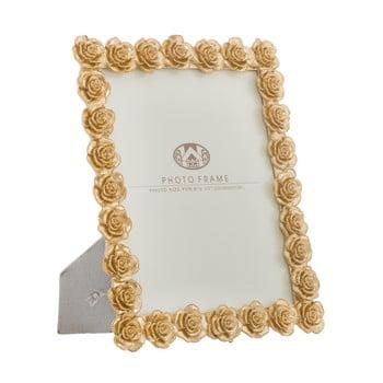Ramă foto MauroFerretti, 25,5x31cm, motive trandafiri, auriu imagine