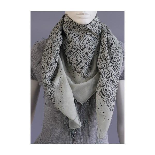 Šedočerný šátek