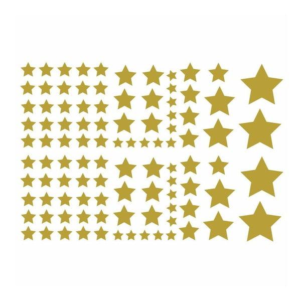Sada 100 samolepek Fanastick Golden Stars
