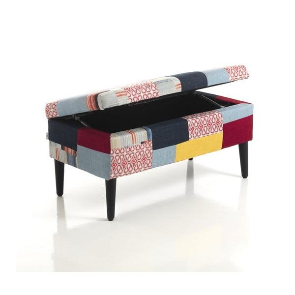 Čalouněná taburetka s úložným prostorem Tomasucci Kaleidos, 40x80x40cm
