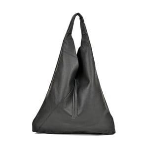 Černá kožená kabelka Anna Luchini Penny