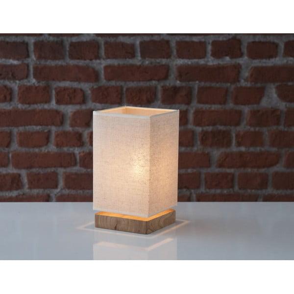 Stolní lampa s dřevěnou základnou Jacobo