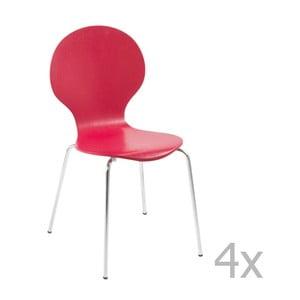 Sada 4 červených jídelních židlí Actona Marcus Dining Chair