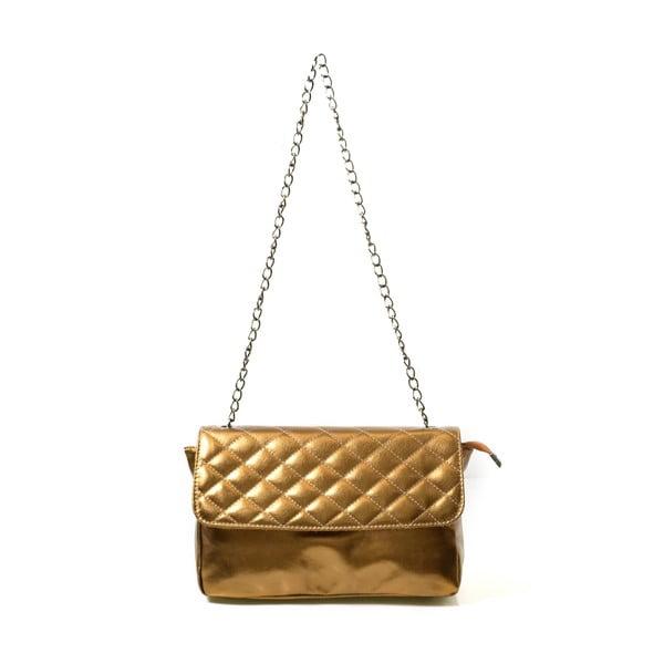 Kožená kabelka Bella, metalická
