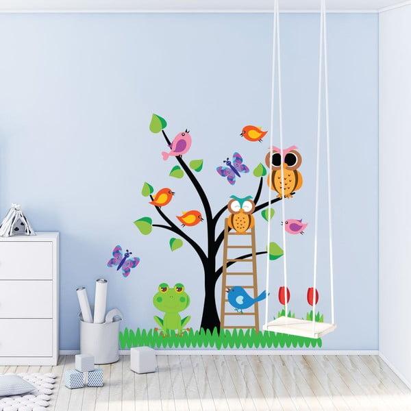 Komplet dziecięcych naklejek ściennych Ambiance Owls Tree