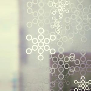Bublinkový závěs, 100x100 cm, bílá