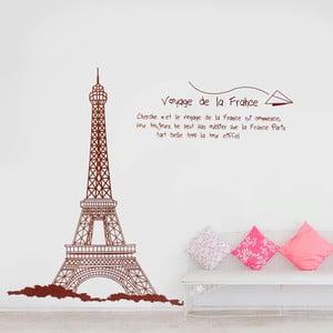 Samolepka na stěnu Paříž a Eiffelova věž, 60x90 cm