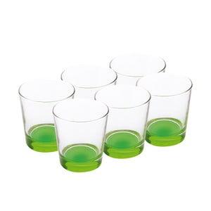Sada skleniček 340 ml, zelené