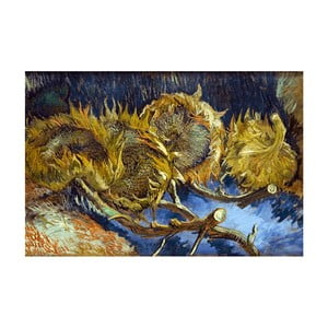 Tablou Vincent van Gogh - Four overblown sunflowers, 40x26 cm
