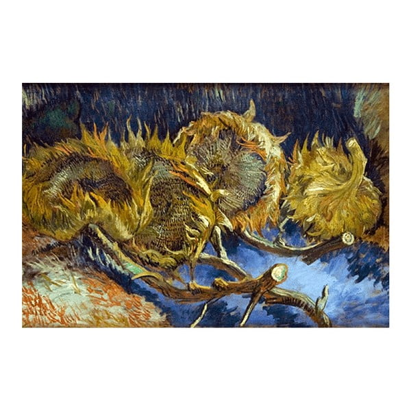 Obraz Vincenta van Gogha - Four overblown sunflowers, 40x26 cm