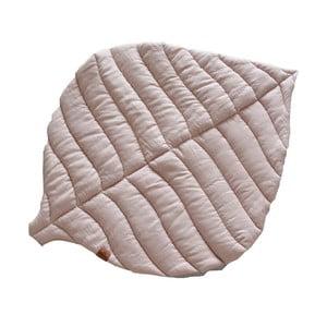 Růžovošedá dětská lněná deka VIGVAM Design Buk