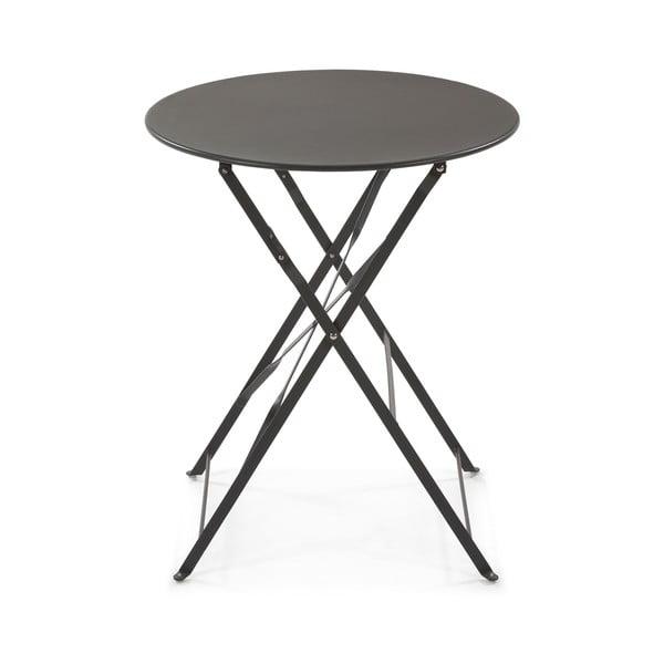Alrick fekete kerek tárolóasztal - La Forma