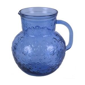 Modrý skleněný džbán EgoDekorFlora, 2,3litru
