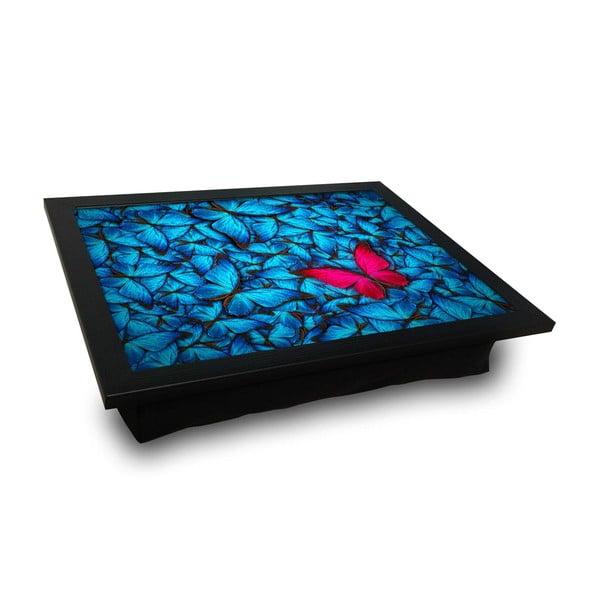 Taca z poduszką pod kolana Red Butterfly, 36x46 cm