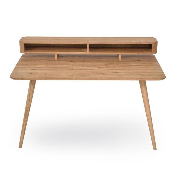 Pracovní stůl z dubového dřeva Gazzda Ena