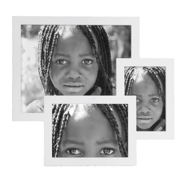 Fotorámeček White Puzzle, 35,5x33 cm