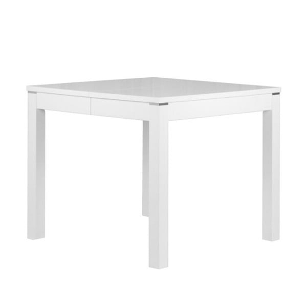 Matný bílý rozkládací jídelní stůl Durbas Style Eric,délka až225cm