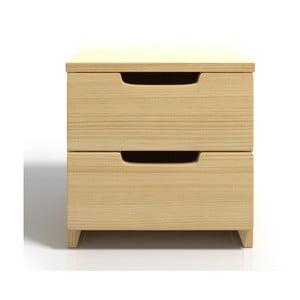 Noční stolek z borovicového dřeva se 2 zásuvkami SKANDICA Spectrum