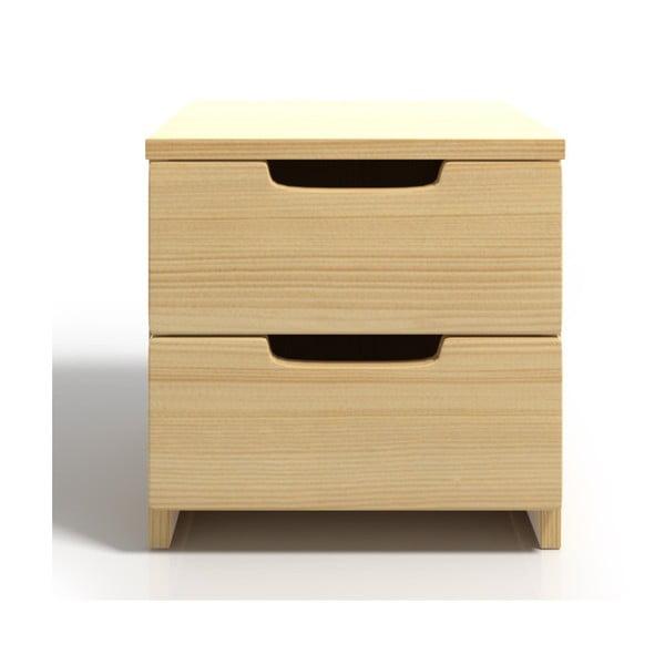 Noptieră din lemn de pin cu 2 sertare SKANDICA Spectrum