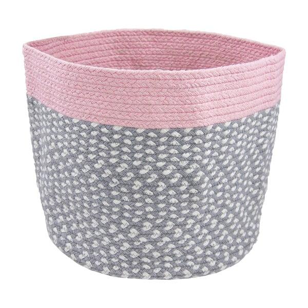 Coș pentru depozitare jucării Nattiot Brenda, roz
