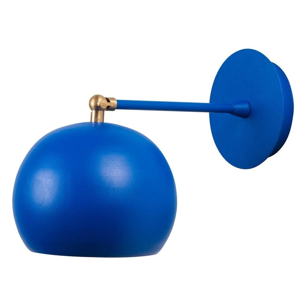 Modrá nástěnná lampa Cup