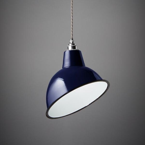 Závěsné světlo Angled Cloche Midnight Blue