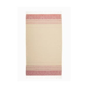 Růžovo-bílá hammam osuška z bavlněných a bambusových vláken Begonville Fancy, 180x95cm