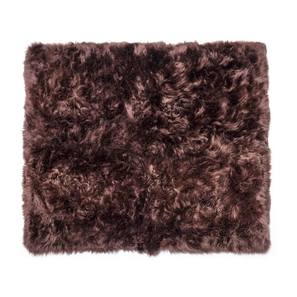 Tmavě hnědý koberec z ovčí kožešiny Royal Dream Zealand Sheep, 130x150cm