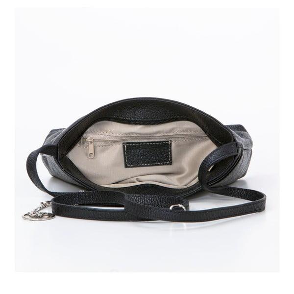 Kožená kabelka Francesco, černá