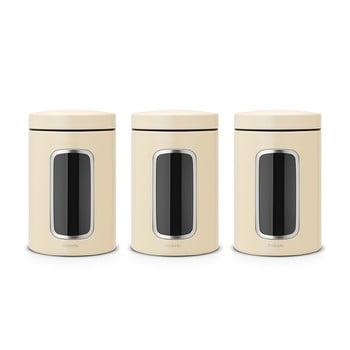 Set 3 recipiente de bucătărie Brabantia, 1,4 l, crem de la Brabantia