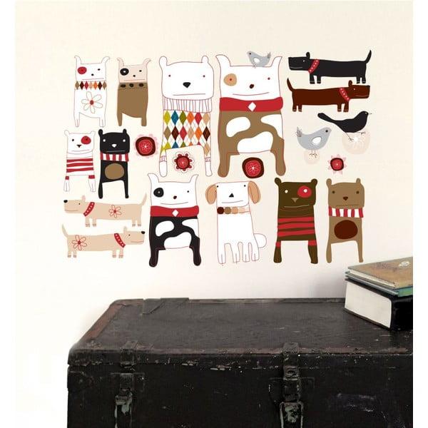 Autocolant refolosibil Dogs, 59x40 cm