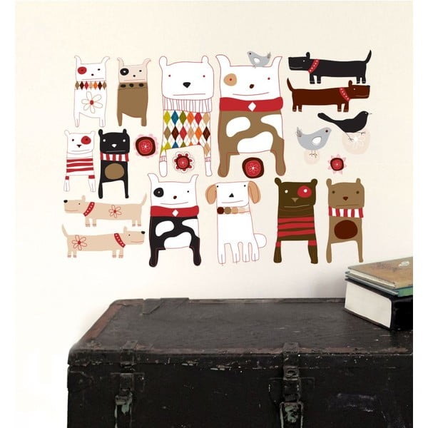 Autocolant refolosibil Chocovenyl Dogs, 59 x 40 cm