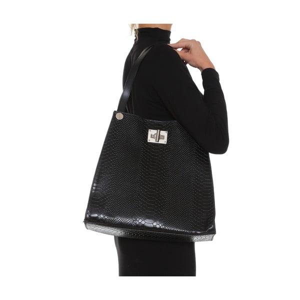 Kožená kabelka Anna Luchini 8038 Nero