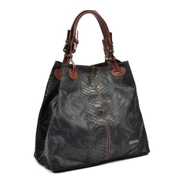 Černá kožená kabelka Luisa Vannini Amalia