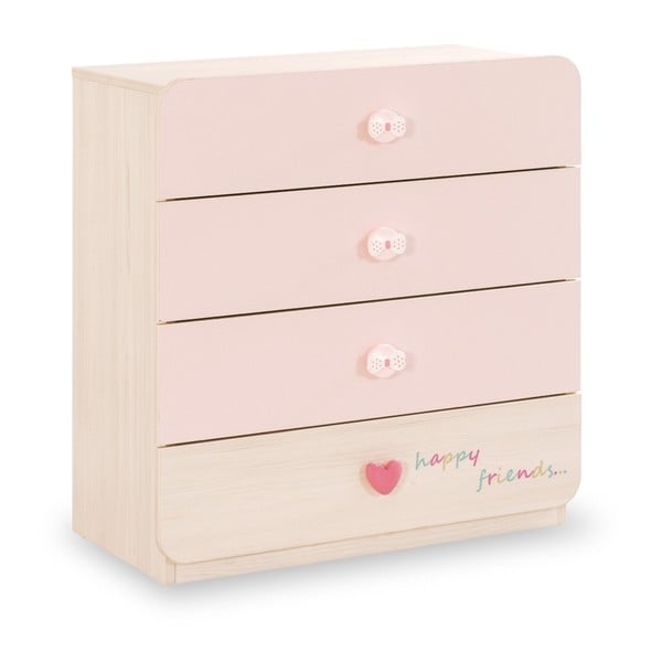 Baby Girl Dresser halvány rózsaszín komód