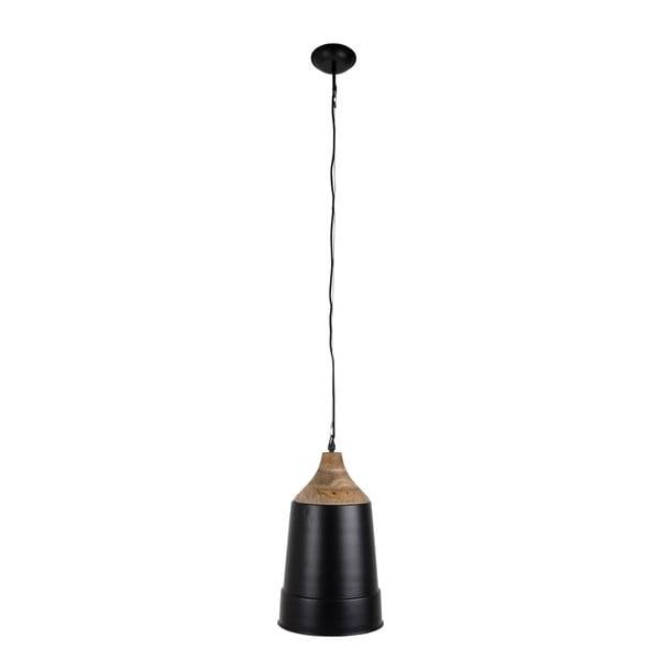 Černé závěsné svítidlo Dutchbone Wood Top