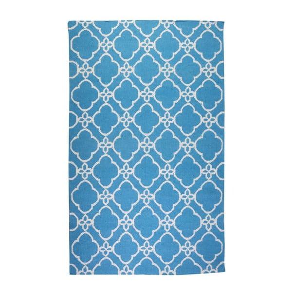 Vlněný koberec Geometry Orient Blue & White, 160x230 cm