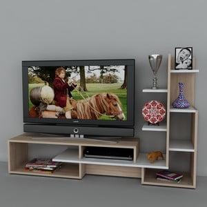 Televizní stěna Mild White, 39x168,6x107,7 cm