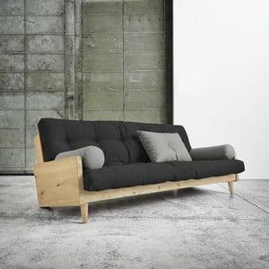 Canapea extensibilă Karup Indie Natural/Dark Grey/Granite Grey