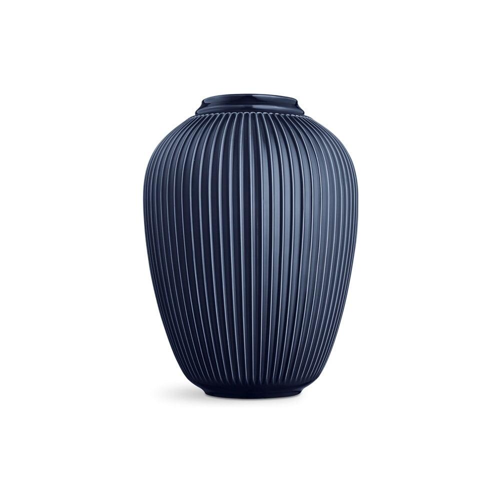 Tmavě modrá volně stojící kameninová váza Kähler Design Hammershoi, výška 50 cm