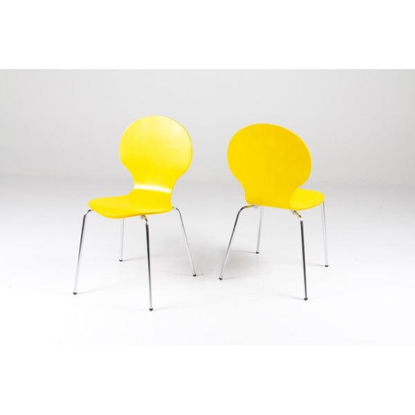 Žlutá  jídelní židle Actona Marcus