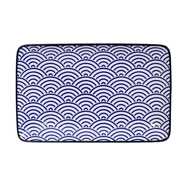 Obdélníkový talíř Tokyo Design Studio Nippon Wave, 21x13,5cm