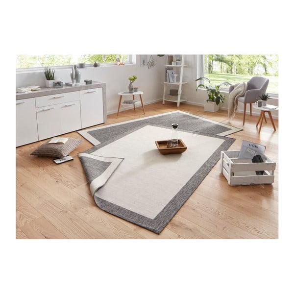 Světle šedý oboustranný koberec vhodný i na ven bougari Panama, 120x170 cm