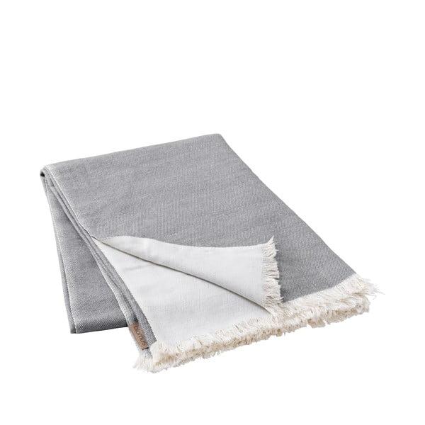 Šedý pletený pléd Blomus, 130x180cm