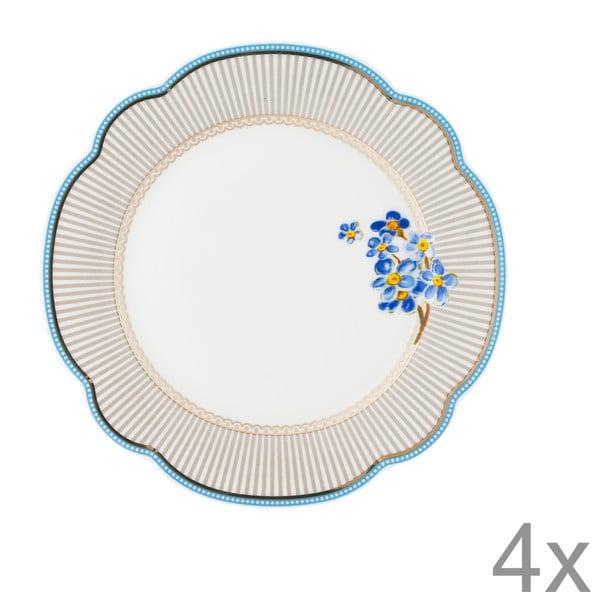 Porcelánový talíř Beach od Lisbeth Dahl, 19 cm, 4 ks