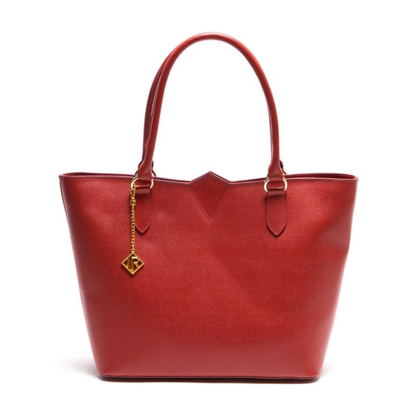 Kožená kabelka Isabella Rhea 440 Rosso