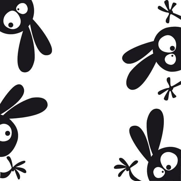 Samolepka Fanastick Funny Rabbits