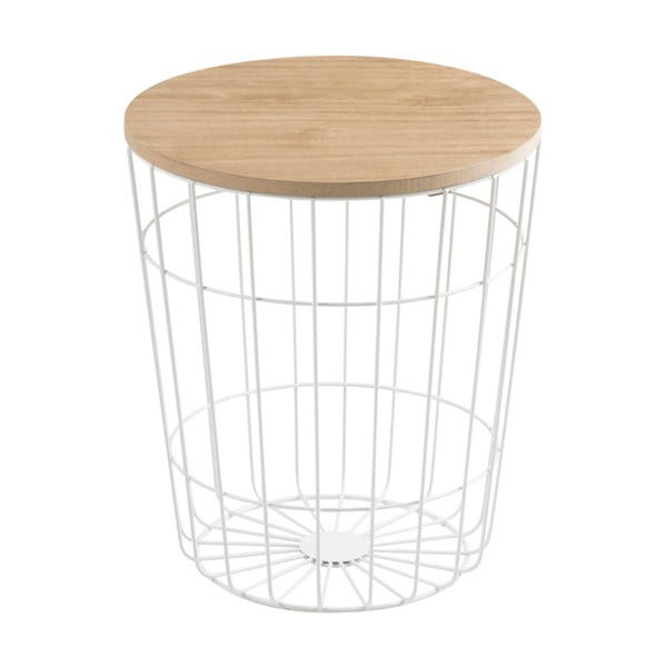 Bílý odkládací stolek Actona Lotus Light,ø 34 cm