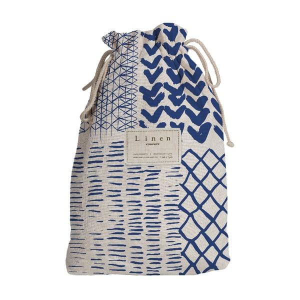 Cestovní vak s příměsí lnu Linen Couture Composition, délka 44 cm