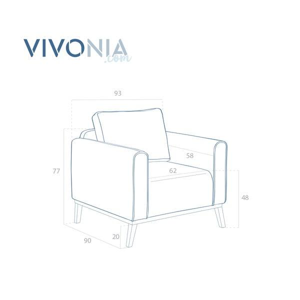 Petrolejově modré křeslo Vivonita Milton